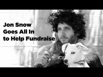 Jon Snow with Direwolf Puppy! (?)