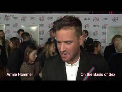 "Armie Hammer ""On the Basis of Sex""  AFI film festival premiere"