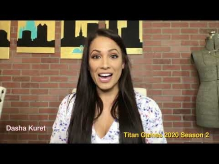 """The Titan Games"" 2020  interview with ""Dasha Kuret"" contestant season 2"