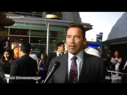 Arnold Schwarzenegger at the MR. CHURCH premiere on FabulousTV