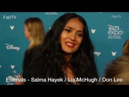 Eternals: Salma Hayek - Lia McHugh - Don Lee at D23 EXPO