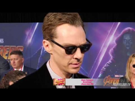 Benedict Cumberbatch Doctor Strange at AVENGERS: Infinity War World Premiere