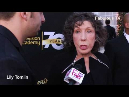 Lily Tomlin at the 70th Anniversary at TV Academy red carpet on Fabulous TV