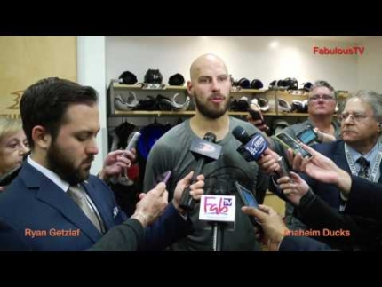 Ryan Getzlaf of the Anaheim Ducks was pretty cool in the locker room