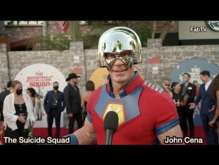 "John Cena arrives at ""The Suicide Squad"" world premiere"