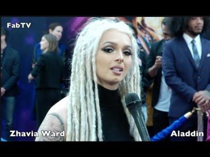 """Zhavia Ward  sings at the """"ALADDIN"""" premiere"""