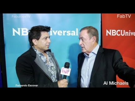 Al Michaels at NBC Press Tour discusses NFL & new rules