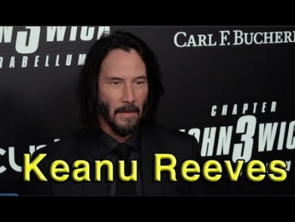 "Keanu Reeves arrives with Halle Berry at ""JOHN WICK 3"""