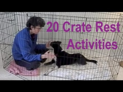 Crate rest activities