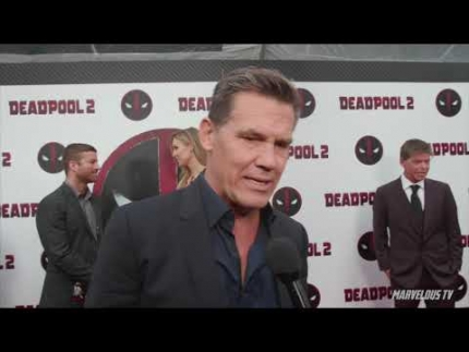 Deadpool 2 premiere with 'Josh Brolin' who plays 'Cable'