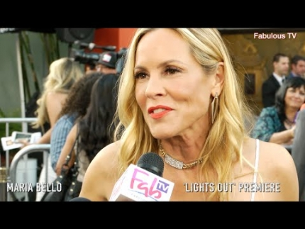 Maria Bello at the 'LIGHTS OUT' premiere on Fabulous TV