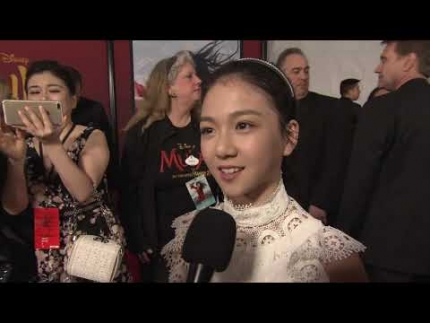 MULAN WORLD PREMIERE with adorable  'Crystal Rao'