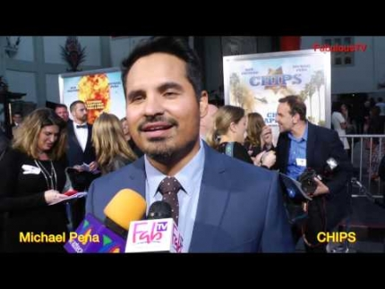 Michael Pena at the 'CHIPS' world premiere on FabulousTV