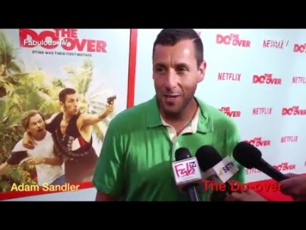 Adam Sandler at \'The Do Over\' premiere at LA Live #‎netflix #‎fabulous tv #‎fabtv   Fabulous TV