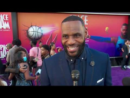 LeBron James arrives on the red carpet of  SPACE JAM: A NEW LEGACY