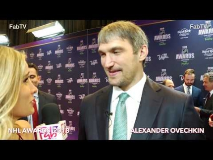 Alexander Ovechkin at the 2018 NHL Awards