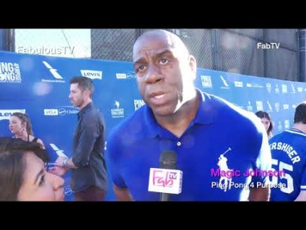 'Magic Johnson' at Kershaw's Ping Pong 4 Purpose event on FabulousTV