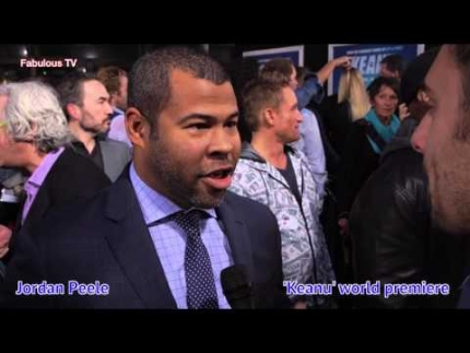 Jordan Peele & Keegan Michael Key at the KEANU premiere Fabulous...