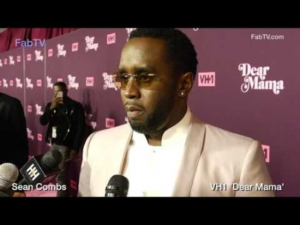 "Sean Combs at VH1's ""DEAR MAMA"" red carpet on FabTV"