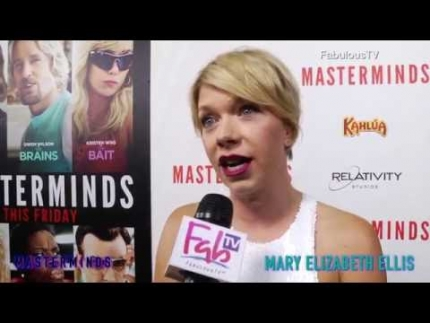 Mary Elizabeth Ellis at the 'MASTERMINDS' red carpet on FabulousTV