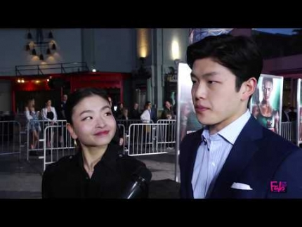 Alex and Maia Shibutani at the 'Tomb Raider' Red Carpet