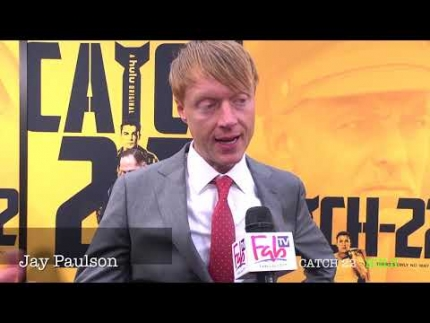 "Actor Jay Paulson about his chaplain role in ""CATCH 22""  premiere"