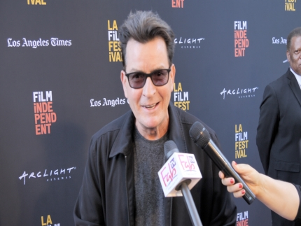 "Charlie Sheen at the ""STUNTMAN""  premiere"