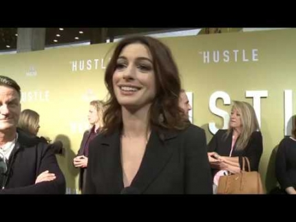 """The Hustle"" Anne Hathaway premiere & red carpet"