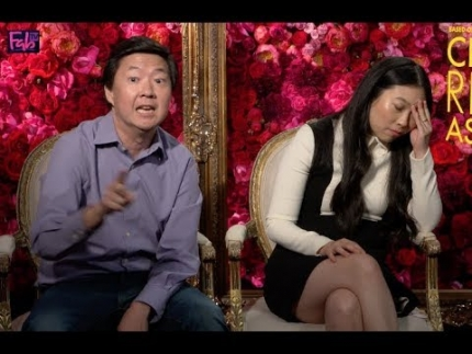 "Awkwafina & Kim Jeong Goes  CRAZY rapping!!!  ""Crazy Rich..."