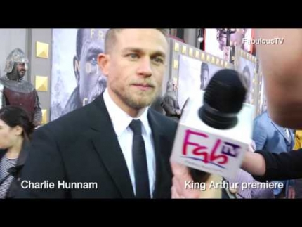 Charlie Hunnam at the 'King Arthur' premiere on FabulousTV