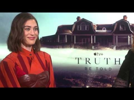 "Lizzy Caplan  and discuss ""Truth be Told"""