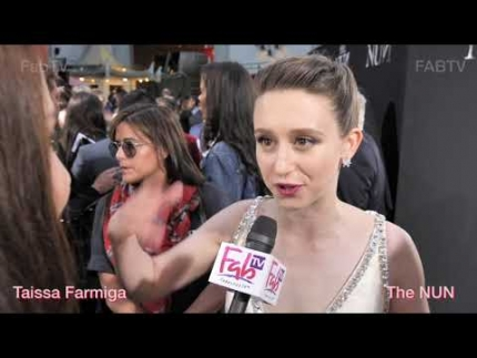 "Taissa Farmiga at ""The Nun""  tells us her fav horror film!"