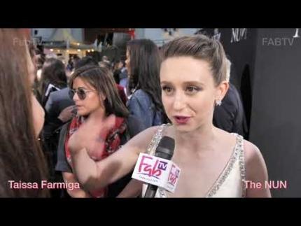 """Taissa Farmiga at """"The Nun""""  tells us her fav horror film!"""