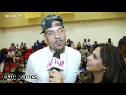 Matt Barnes at Trevor Ariza's Elevated Game celebrity basketball on  Fabulous TV