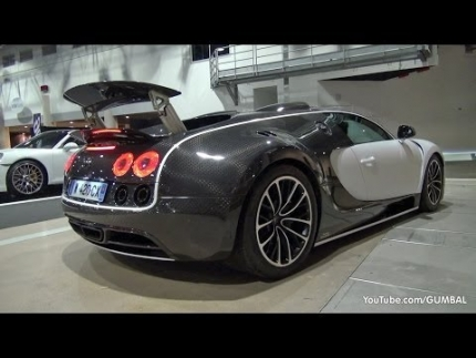 $3.5 Million Bugatti Veyron 16.4 Mansory Vivere - Start up + Driving...