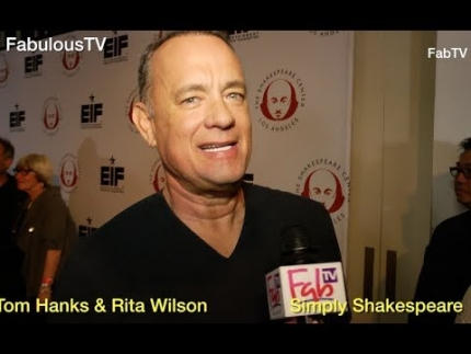 Tom Hanks & Rita Wilson at 'Simply Shakespeare' event at UCLA on FabulousTV