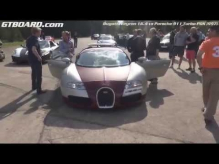 Bugatti Veyron 16.4 vs Porsche 911 Turbo PDK (997) rolling start
