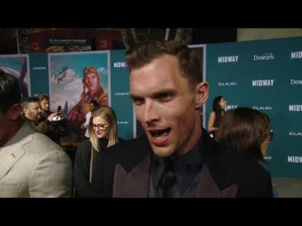 Midway premiere & red carpet with Ed Skrein