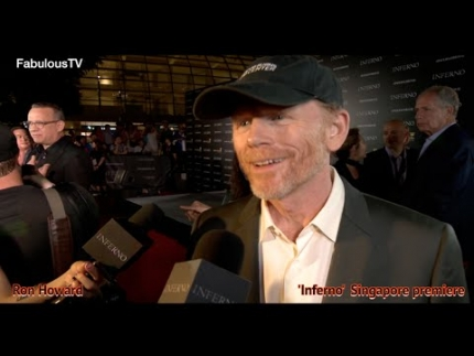 Director: Ron Howard at 'Inferno' red carpet Singapore on FabulousTV