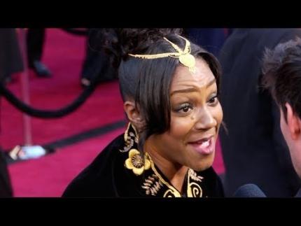 Tiffany Haddish at Oscars red carpet tells whats she's gonna....