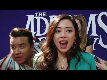 "Aimee Garcia   ""Denise"" The Addams Family world premiere"