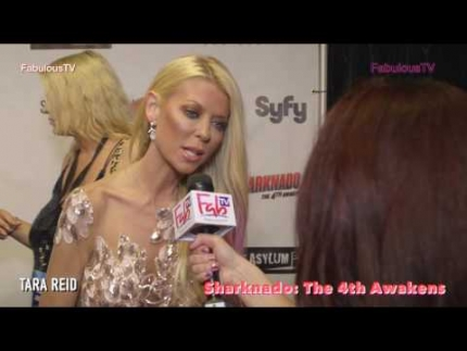 Tara Reid at the  'Sharknado :The 4th Awakens' in Las Vegas premiere on Fabulous TV