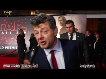 Mark Hamill & Andy Serkis at STAR WARS: The Last Jedi premiere