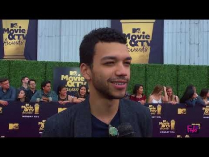 Justice Smith at the 2018 MTV Movie & TV Awards
