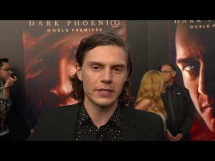 "Evan Peters discusses ""DARK PHOENIX"" and his role..."