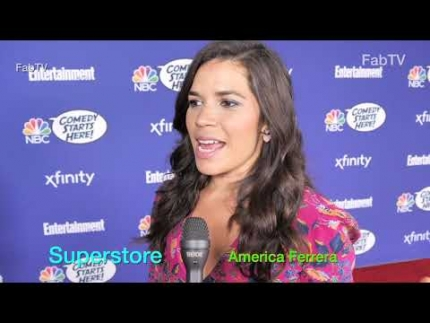 "America Ferrera at the NBC ""Comedy Starts Here""  discusses 'SUPERSTORE'"