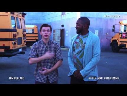 Tom Holland reveals some secrets of 'Spider Man' Homecoming at 'set...