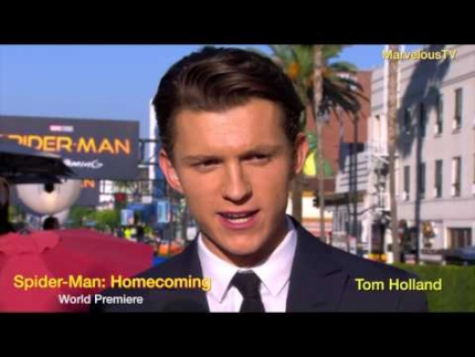 Tom Holland arrives at Spider -Man:Homecoming world premiere