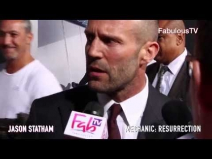 Jason Statham & Jessica Alba at 'Mechanic: Resurrection'  FabulousTV