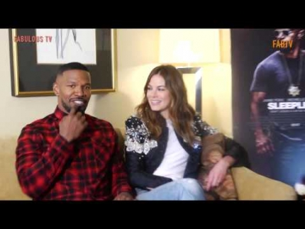 "EXCLUSIVE:  Jamie Foxx & Michelle Monaghan tell all about ""SLEEPLESS""  FabulousTV"